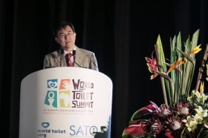 Founder of the World Toilet Organisation Jack Sim says that on the African continent there has been some progress in terms of the community-led total sanitation approach. Courtesy: Meropa Communications