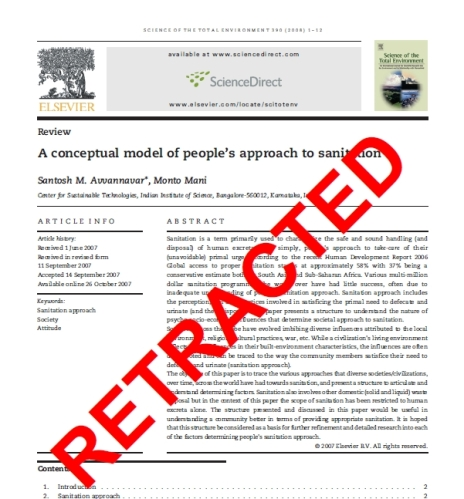 Retracted-sanitation-article