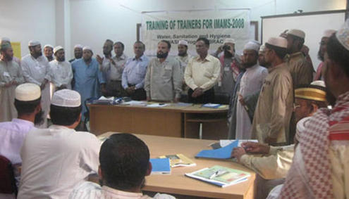 WASH training for imams in Bangladesh. Photo: Masjid Council