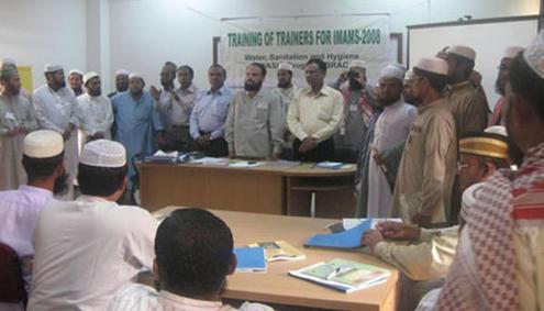 WASH training for imams in Bangladesh. Photo: Masjid Council