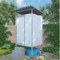Prefabricated toilet developed by Yayasan Dian Desa for the SHAW programme in Flores, Indonesia