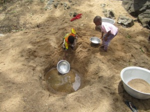 Guinea-worm and bilharzia were common water-related diseases among the children in my village.