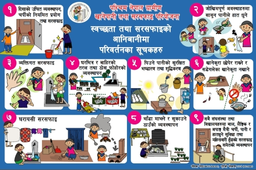 Hygiene and Sanitation indicators - Nepali.  RWSSP-WN