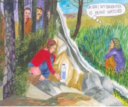 Controversial illustration from Madya Pradesh sanitation campaign booklet