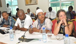 Some of the participants at the Benin workshop.