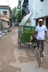 Kitchen waste collected by these bikes is turned into compost or biogas for cooking