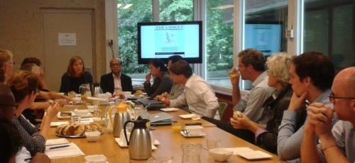 "Dr. Mushtaque Chowdhury from BRAC presents the ""Bangladesh Paradox"", International Water House, The Hague, Yje Netherlaands, 30 July 2014"
