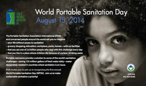 World Portable Sanitation Day logo and photo