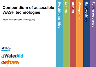 Cover - Compedium of accessible WASH technologies