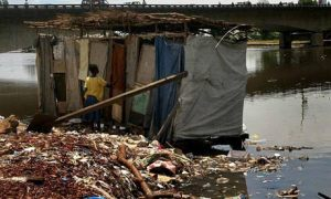For 2.5 billion people across the developing world, having no access to even the most basic sanitation is a reality faced every day Photograph: Ahmed Jallanzo/EPA