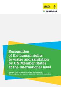 Recognition human rights for WASH cover