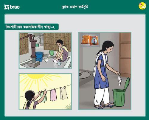 Menstrual hygiene poster.