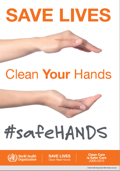 WHO #safeHANDS poster