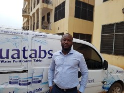 Ernest Saka Ansong is managing director for Health Top Up Services, a private Ghanaian company that serves as Aquatabs' official importer. Photo Credit: Health Top Up Services