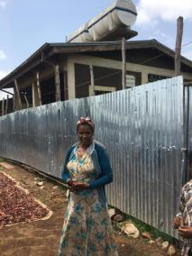 Yirgalem Zewude proudly manages the public latrine and shower (shown) in addition to her neighbourhood's communal latrine. Managing a public latrine requires more time, money, and planning than a communal latrine.