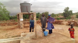 Tackling open defecation in communities is a starting point for improved health. Ensuring the drinking water sources are clean is another. USAID works with local artisans in communities like Anga to repair or rehabilitate artesian drilling, such as this one, as an incentive to become ODF-certified. Photo Credit: CARE Mali