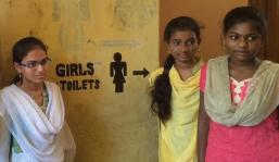 In the city of Visakhapatnam (Vizag), India, improved sanitation facilities in schools are helping female students. Photo Credit: USAID/India