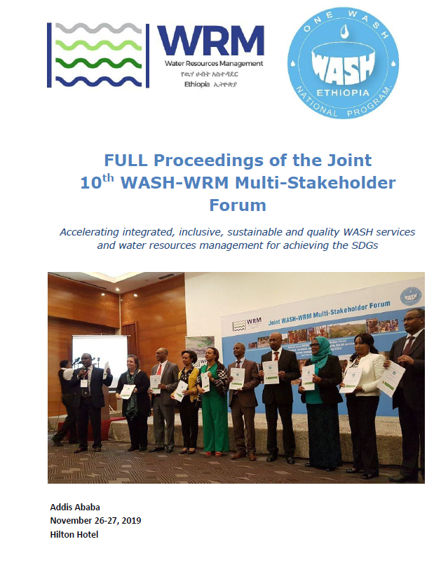 Proceedings joint 10th WASH-WRM MulitiStakeholder Forum - cover